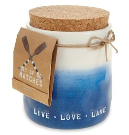 Mudpie LIVE LAKE CANDLE WITH MATCHES