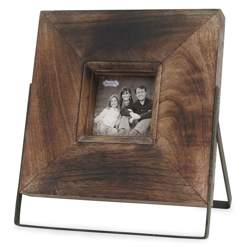 Mudpie WOOD PHOTO FRAME ON STAND