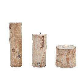 Mudpie MEDIUM BIRCH BARK TEALIGHT