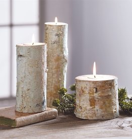 Mudpie LARGE BIRCH BARK TEALIGHT