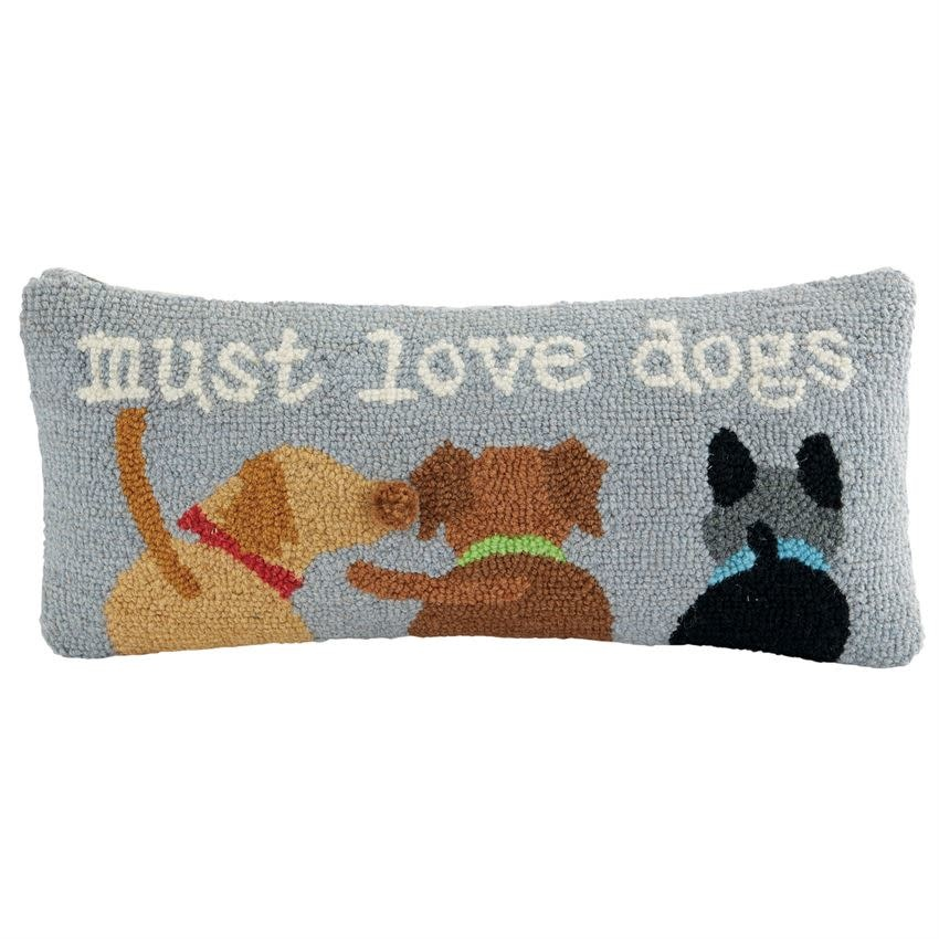 Mudpie MUST LOVE DOGS HOOK PILLOW