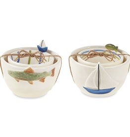 Mudpie FISH DIP BOWL SET