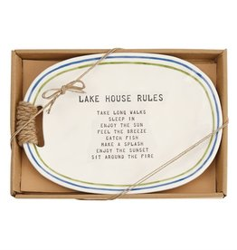 Mudpie LAKE HOUSE RULES PLATE
