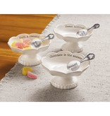 Mudpie CHOCOLATE CIRCA CANDY DISH SET