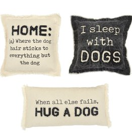Mudpie HUG WASHED CANVAS DOG PILLOW