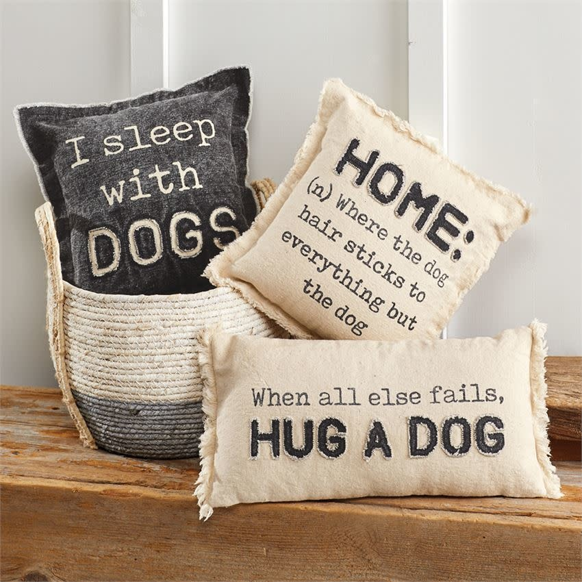 Mudpie HOME WASHED CANVAS DOG PILLOW