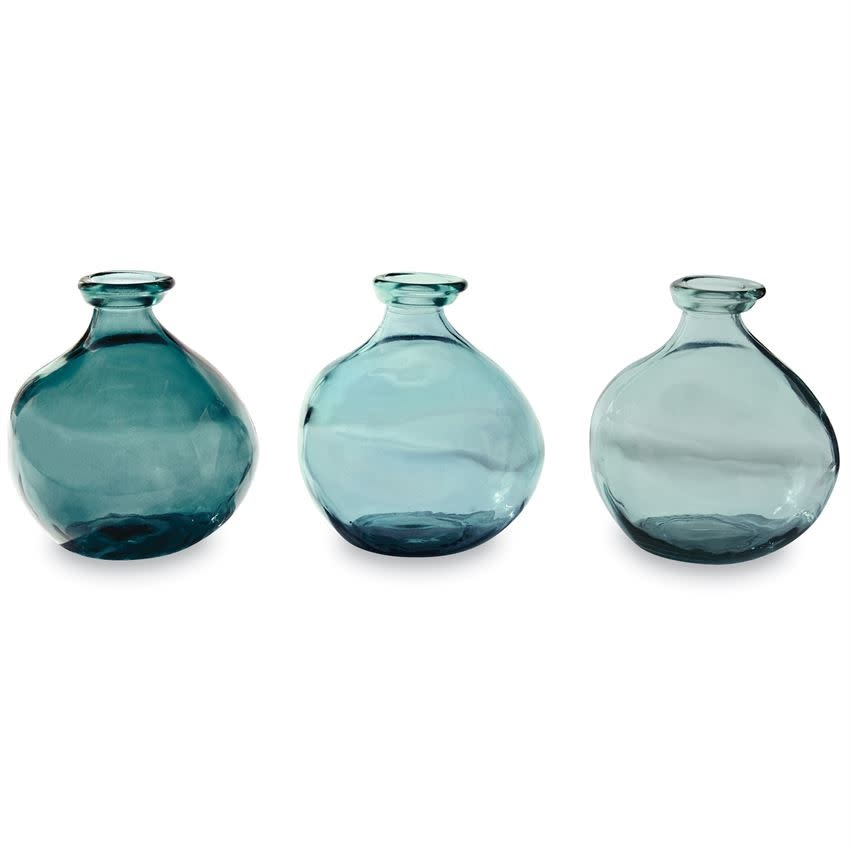 Mudpie GREY BLUE SHORT IRREGULAR VASE