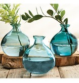 Mudpie LIGHT BLUE SHORT IRREGULAR VASE