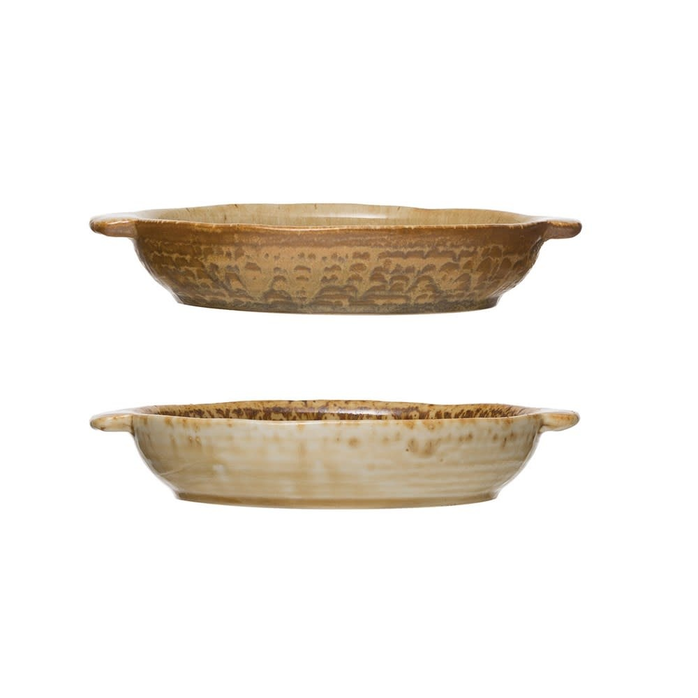 Reactive Glazed Stoneware Baker (Each One Will Vary)
