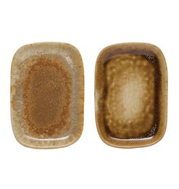 Reactive Glaze Stoneware Dish (Each One Will Vary)