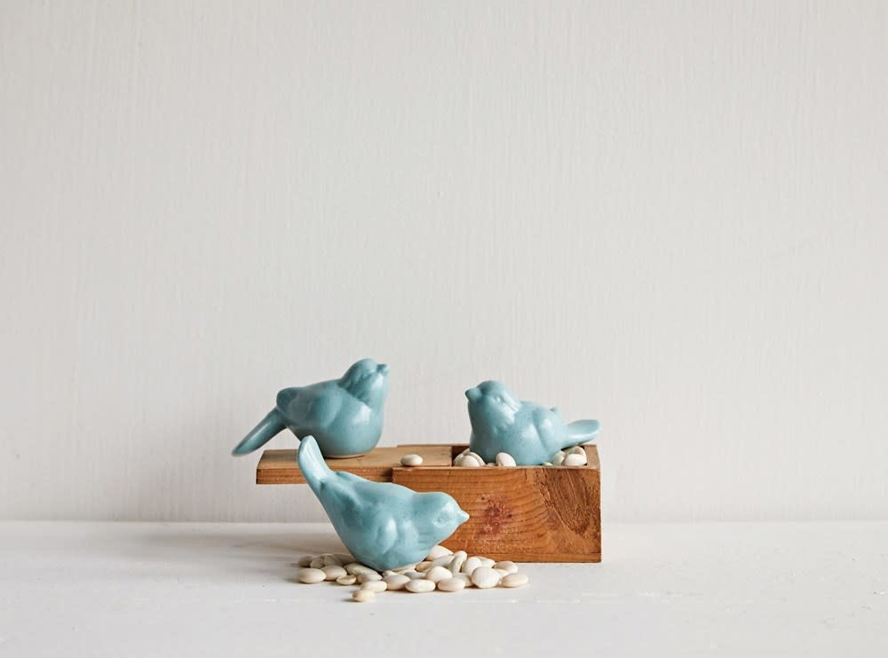 Petite Aqua Ceramic Bird (choice of 3 styles)