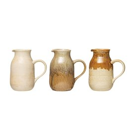 Reactive Glaze Stoneware Pitcher (Choice of 3 Color Palettes--Each One Will Vary)