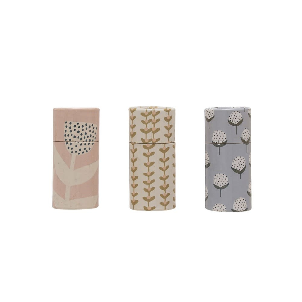 Mini Tube of Matches w/ Floral Pattern (choice of 3 Styles)
