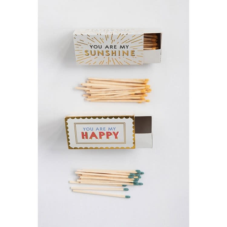 Matches in Triangle Shaped Box w/ Saying (choice of 2 styles)