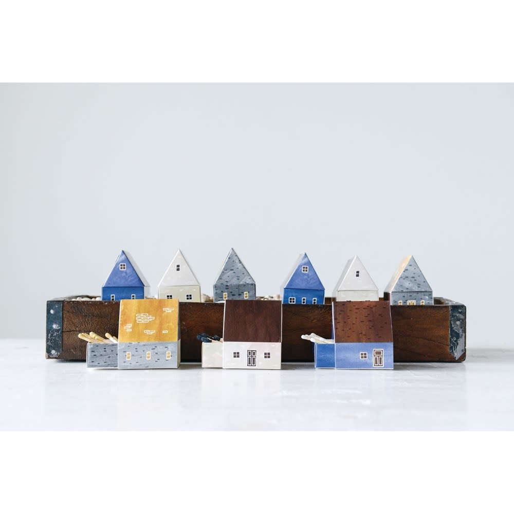 Matches in Colored House Shaped Box (Choice of 3 Styles)