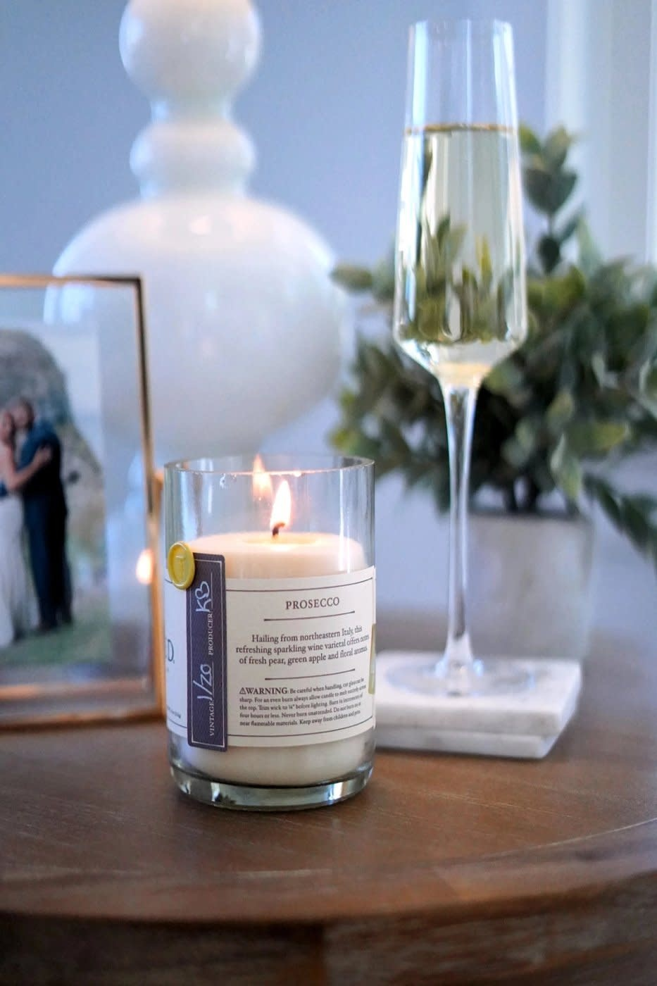 Fleurish Home Rewined Candle Prosecco
