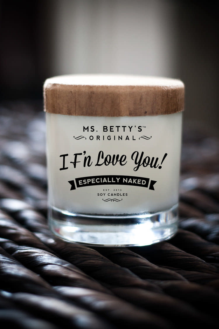 Ms Betty's Original I F'N Love You Especially Naked Candle (Apples & Maple Bourbon)