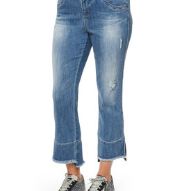 Democracy Kick Flare Cropped Jean w Fray Hem