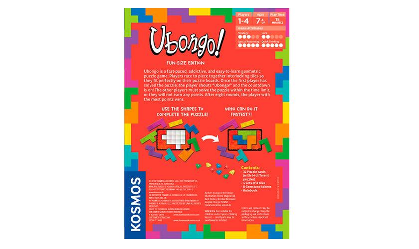 Ubongo Ubongo: Fun-Size Edition