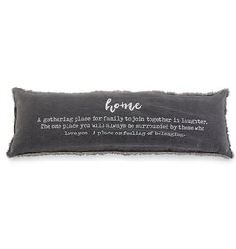 Mudpie Washed Canvas Home Definition Pillow
