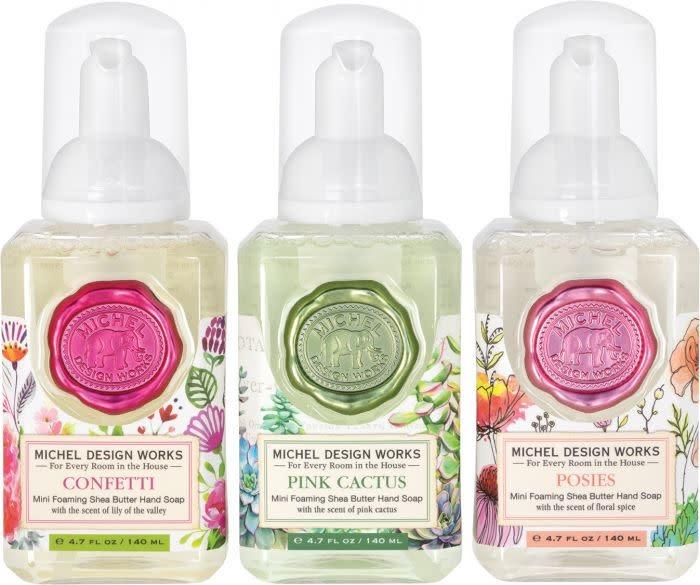 Michel Design Works Mini Foamer Soap Set ( Confetti, Pink Cactus, Posies ) *final few