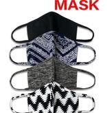 Fleurish Home Black & White Fashion Fabric Mask