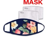 Fleurish Home Navy Floral Washable Mask w Filter Pocket (includes 2 filters)