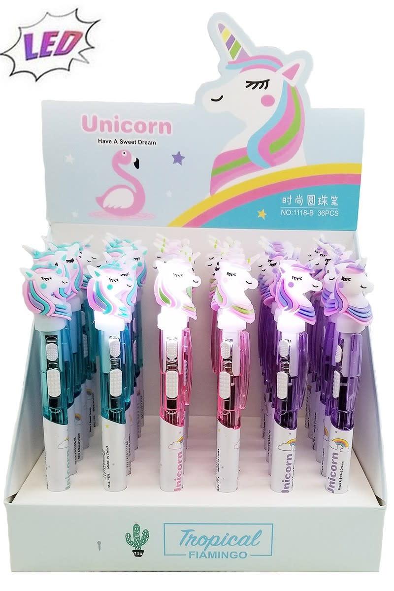 Fleurish Home Unicorn Pen with LED Light