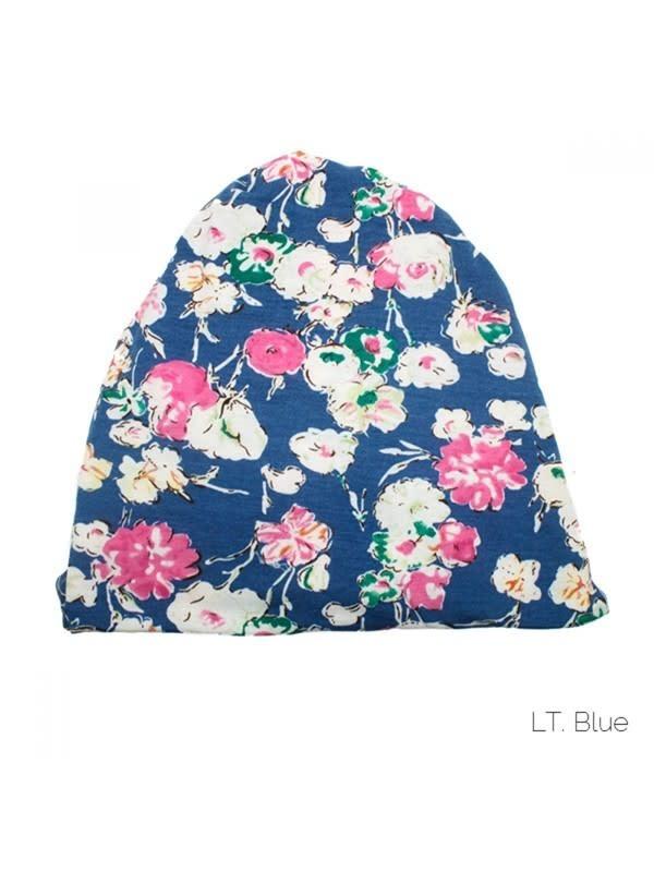 Fleurish Home Multi Functional Floral Fashion Face Mask & Ponytail Beanie