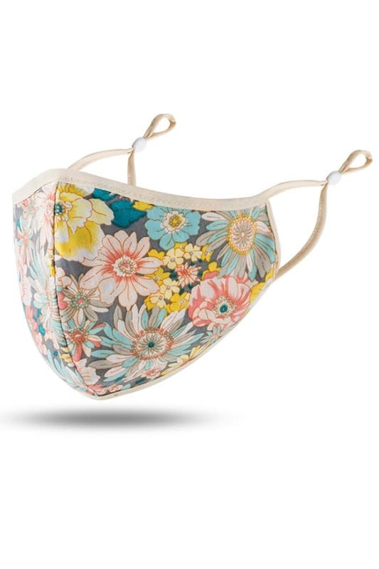 Fleurish Home Multi Color Floral Fashion Adjustable Mask