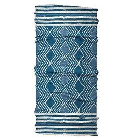 Karma Wide Headband Blue Batik