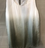 Cobblestone Living Fiona Silk & Viscose Top Gradient Sage