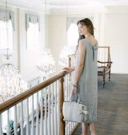 Cobblestone Living Irene Linen Dress Grey