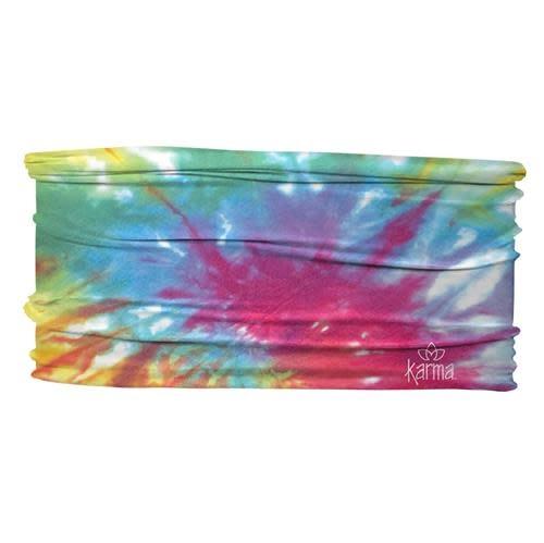 Karma Thin Headband Rainbow Tie Dye