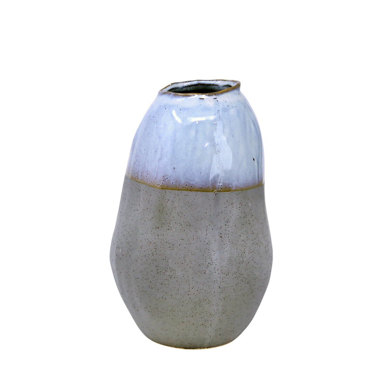 "Fleurish Home CERAMIC 10"" ORGANIC VASE, GRAY"