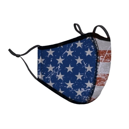 Top Trenz USA Flag Fashion Mask w Filter Pocket
