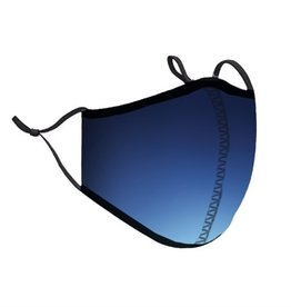 Top Trenz Blue Ombre Fashion Mask w Filter Pocket