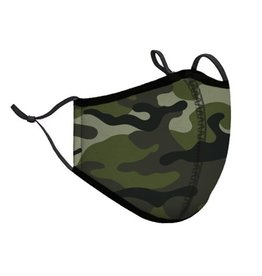 Top Trenz Green Camo Fashion Mask w Filter Pocket