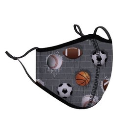 Top Trenz Sports Fashion Mask w Filter Pocket