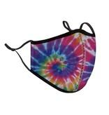 Top Trenz Primary Tie Dye Fashion Mask w Filter Pocket
