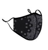 Top Trenz Bandana Print Fashion Mask w Filter Pocket (Unisex Adult Size)