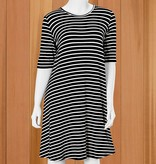 Mary Square Day Trip Striped A-Line Dress
