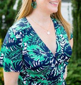 Mary Square Wrap Style Maxi Dress in Havana