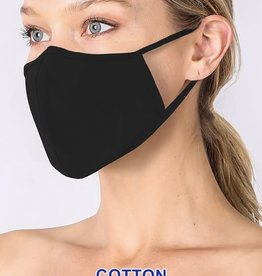 Fleurish Home Basic Cotton Fashion Mask w Filter Pocket: Black