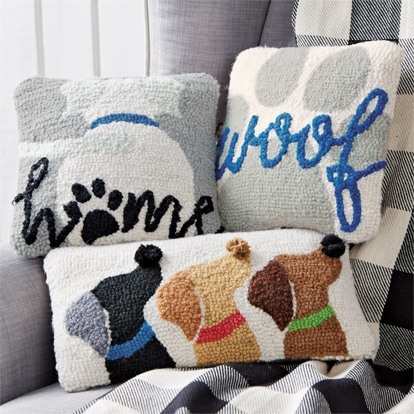 Mudpie Home Mini Hooked Dog Pillow