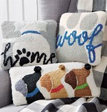 Mudpie Woof Mini Hooked Dog Pillow *last chance
