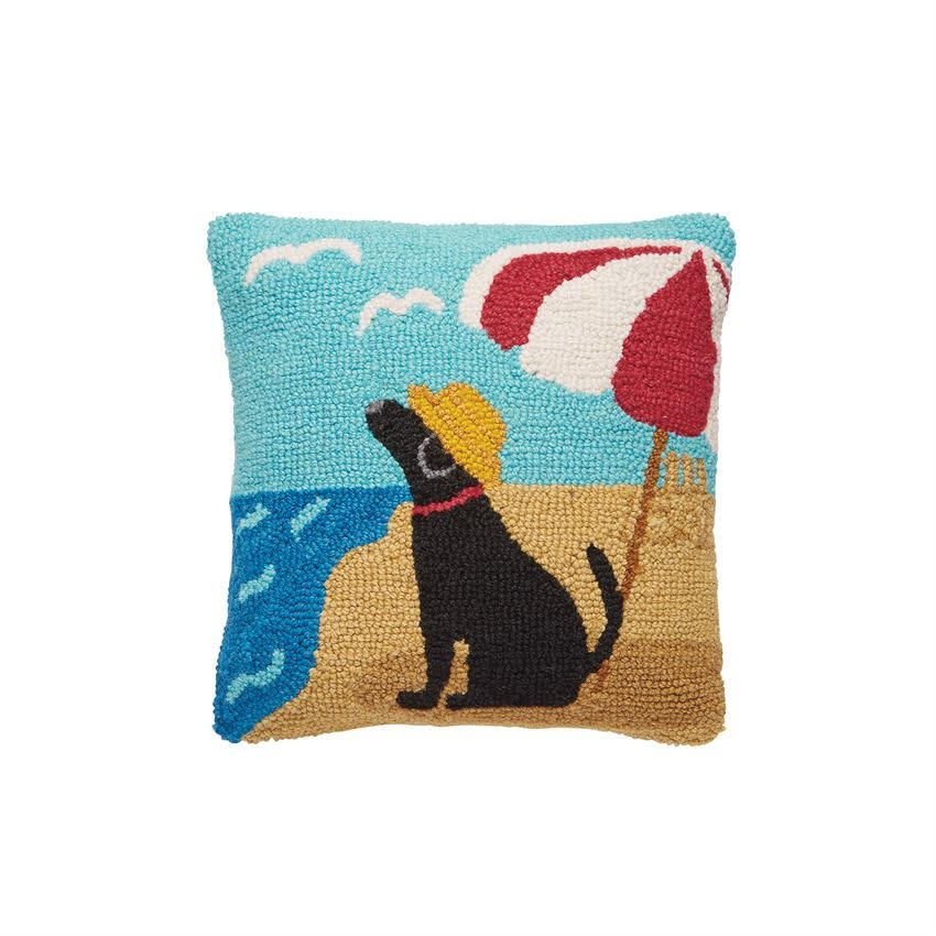 Mudpie BEACH DOG HOOK PILLOW
