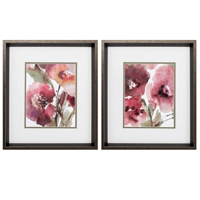 Fleurish Home BLOOMS  (CHOICE OF 2) 17x15