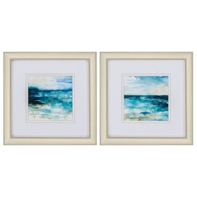 Fleurish Home OCEAN BREAK (CHOICE OF 2) 12x12