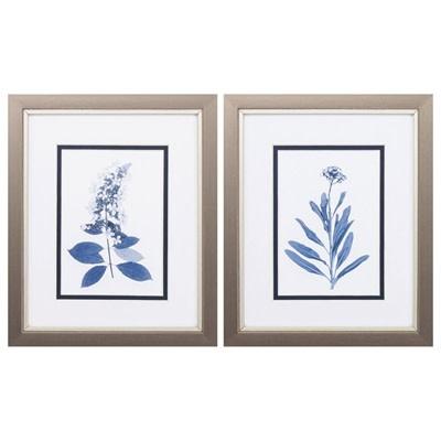 Fleurish Home INDIGO PRESS FLORALS  (CHOICE OF 2) 11x9